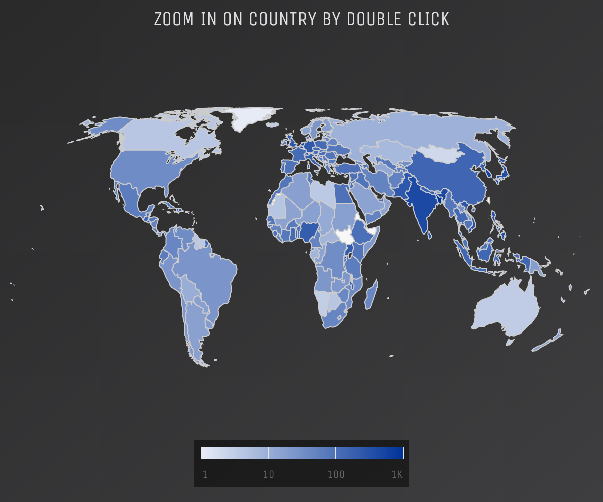 Screenshot of 'Zoom to area by double click' demo